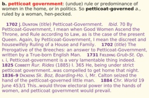 Petticoat government oxford
