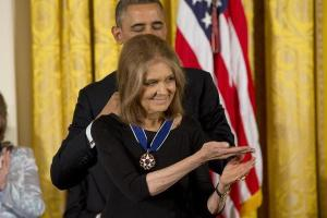 President Obama's award of the Presidential Medal of Freedom to feminist icon Gloria Steinem
