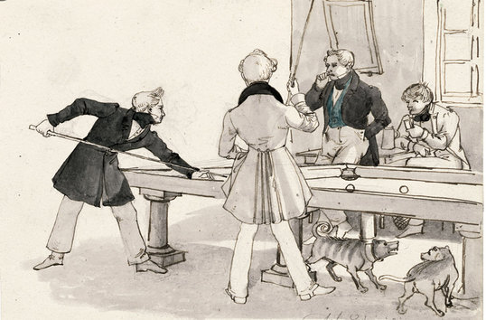Billiards public domain image