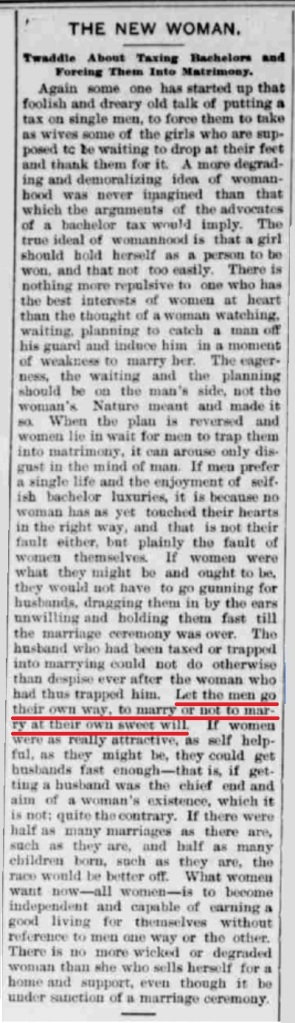 Let men go their own way -  MGTOW 1897 The Copper country evening news., October 09, 1897, Image 2