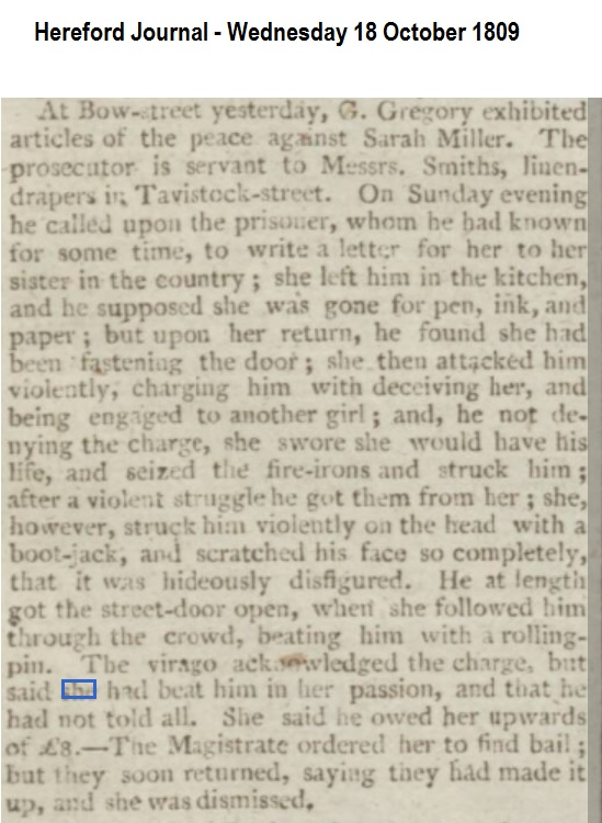 1809 Hereford Journal - Wednesday 18 October 1809