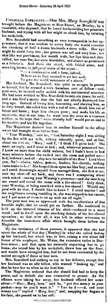 1823 Bristol Mirror - Saturday 26 April 1823