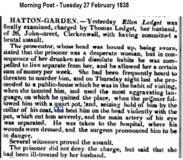 1838 Morning Post - Tuesday 27 February 1838