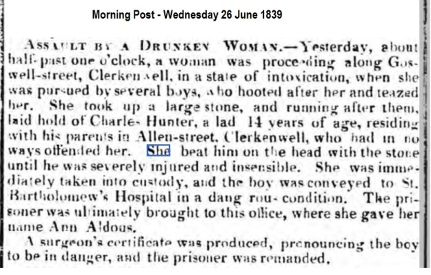 1839 Morning Post - Wednesday 26 June 1839
