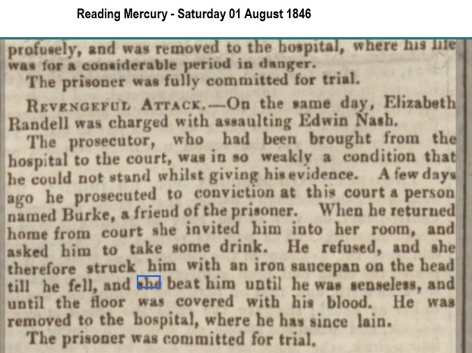 1846 Reading Mercury - Saturday 01 August 1846
