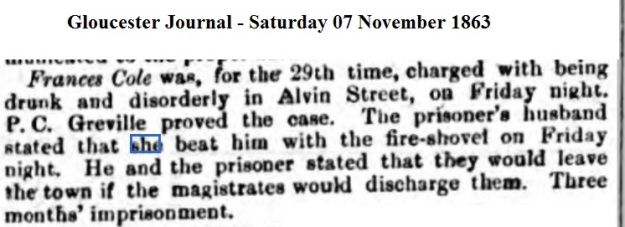 1863 Gloucester Journal - Saturday 07 November 1863