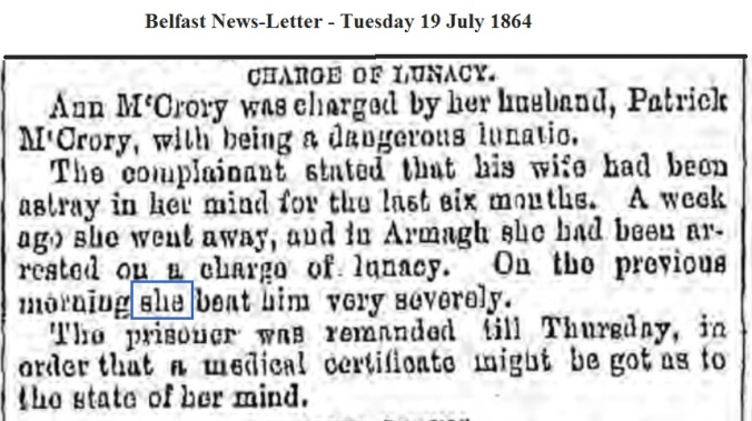 1864 Belfast News-Letter - Tuesday 19 July 1864