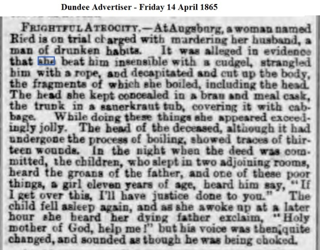 1865 Dundee Advertiser - Friday 14 April 1865