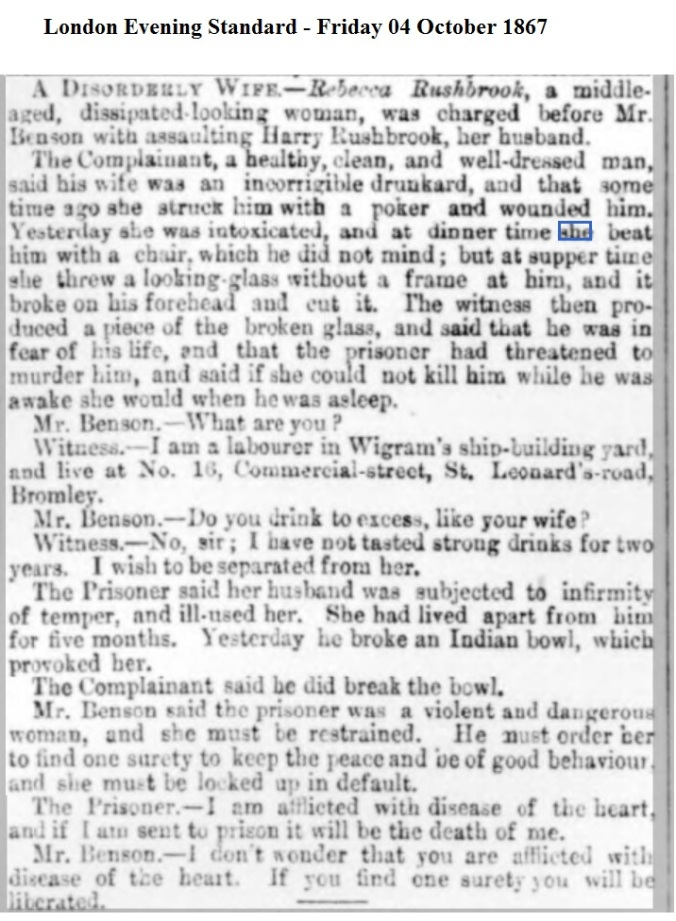 1867 London Evening Standard - Friday 04 October 1867