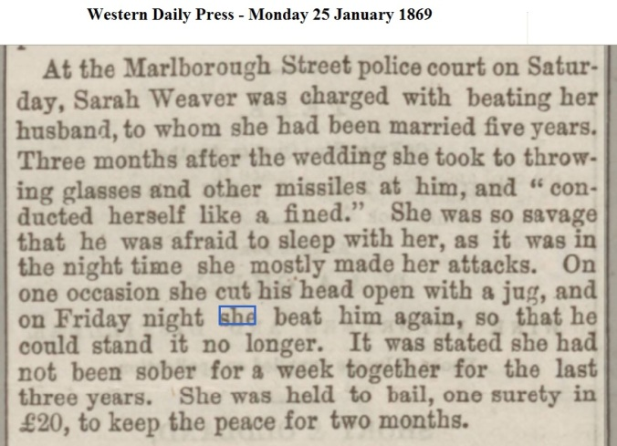 1869 Western Daily Press - Monday 25 January 1869
