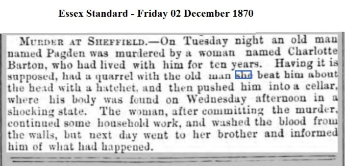 1870 Essex Standard - Friday 02 December 1870