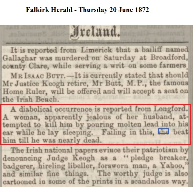 1872 Falkirk Herald - Thursday 20 June 1872