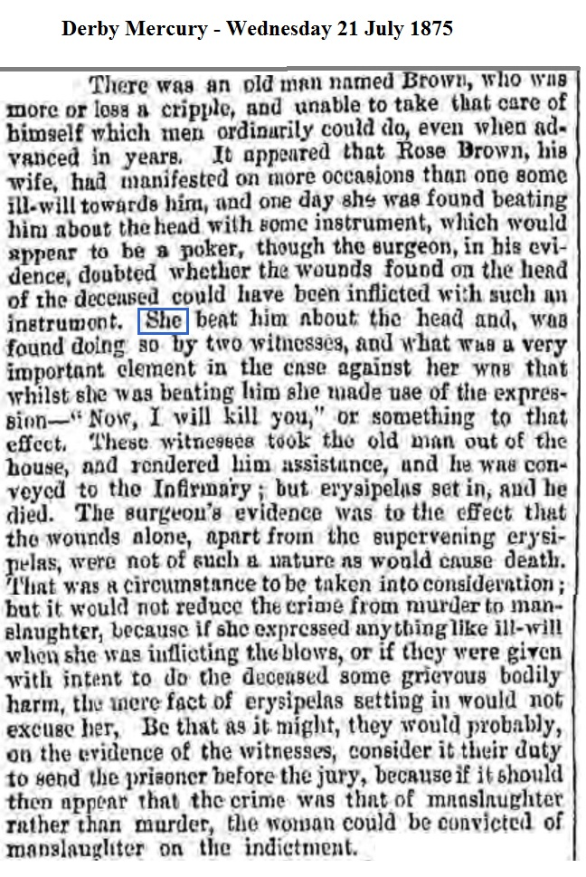 1875 Derby Mercury - Wednesday 21 July 1875