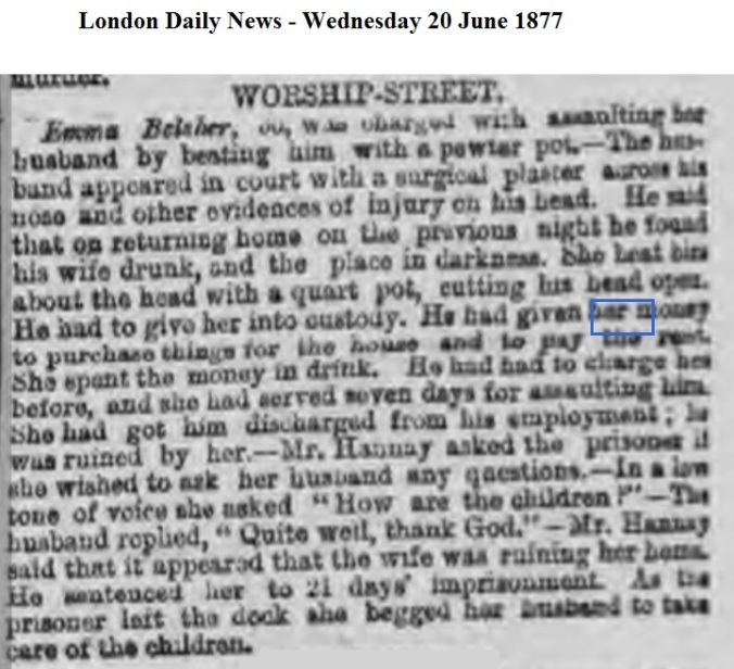 1877 London Daily News - Wednesday 20 June 1877