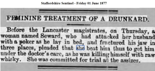 1877 Staffordshire Sentinel - Friday 01 June 1877