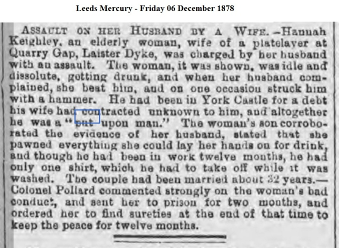 1878 Leeds Mercury - Friday 06 December 1878