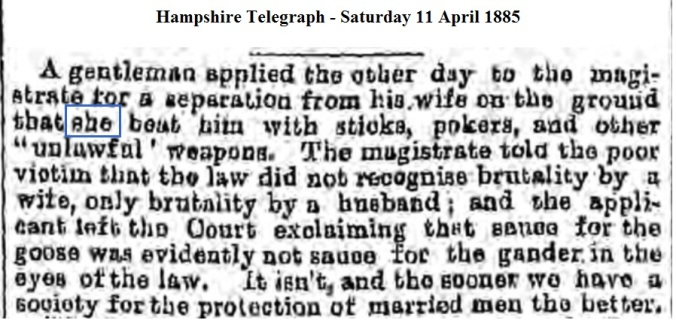 1885 Hampshire Telegraph - Saturday 11 April 1885