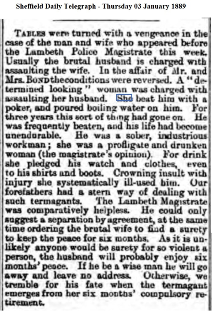 1889 Sheffield Daily Telegraph - Thursday 03 January 1889