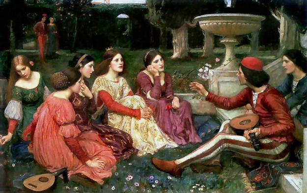 Waterhouse decameron Wikipedia commons