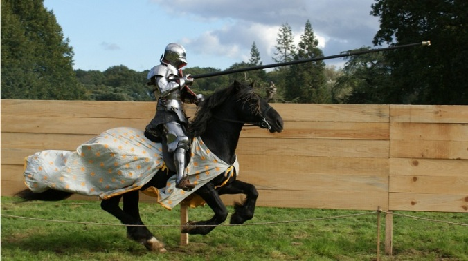 Knight jousting horse medieval Flickr commons