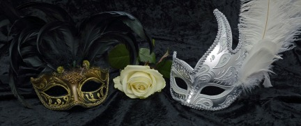Mysterious Close Romance Carnival Mask Venice